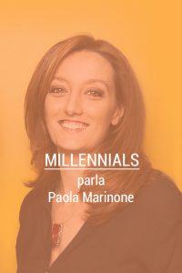 """millennials parla paola marinone"
